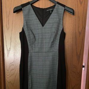 WHBM black with plaid inset dress